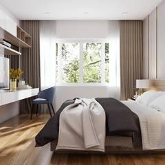 Phòng ngủ master đẳng cấp sang trọng:  Phòng ngủ by Công ty TNHH Nội Thất Mạnh Hệ