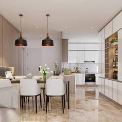 Nội thất phòng bếp:  Nhà bếp by Công ty TNHH Nội Thất Mạnh Hệ