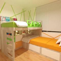 Dormitorio Compartido: Cuartos para niños de estilo  por Inspira