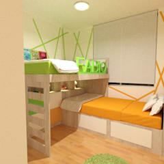 Dormitorio Compartido: Cuartos para niñas de estilo  por Inspira