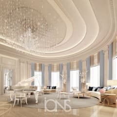 Grand Piano Room Design:  Living room by IONS DESIGN