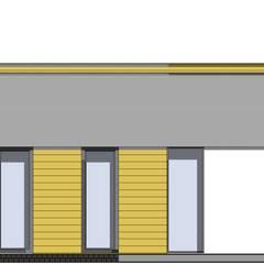 Nowoczesny dom o pow. poniżej 150 m2: styl , w kategorii Dom jednorodzinny zaprojektowany przez Budownictwo i Architektura Marcin Sieradzki - BIAMS