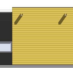 Minimalistyczny dom parterowy z płaskim dachem pod Łodzią (Nowosolna) Minimalistyczne ściany i podłogi od Budownictwo i Architektura Marcin Sieradzki - BIAMS Minimalistyczny Lite drewno Wielokolorowy