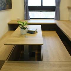 【住家】混搭美學的機能設計:  書房/辦公室 by 圓方空間設計,