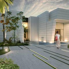 Fachada/Entrada principal: Casas unifamilares de estilo  de be4studio