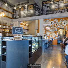 Bakken Café Bar Espaços gastronômicos industriais por Estúdio Kza Arquitetura e Interiores Industrial Concreto