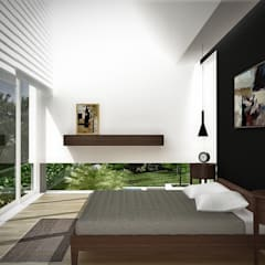 Sonoma: Cuartos de estilo  por RRA Arquitectura, Minimalista Madera Acabado en madera