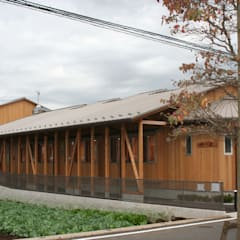 Clinics by (有)クエストワークス一級建築士事務所, Asian Wood Wood effect