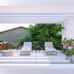 Casa Nanette: Terraços  por Studio Calla