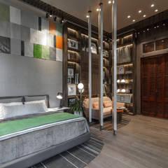 Casa FOA 2018 : Dormitorios pequeños de estilo  por Estudio Viviana Melamed,Moderno Madera Acabado en madera