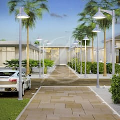 Thumamah Modern Luxury Palace Landscape:  Villas by Comelite Architecture, Structure and Interior Design