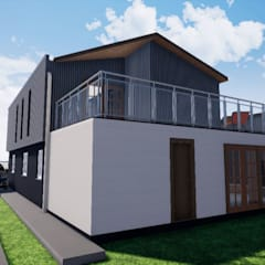 Ampliación Casa Gómez_ ampliación y remodelación _ San Fernando: Casas unifamiliares de estilo  por BIM Urbano