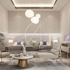 Interior Design of Modern Luxury Residence:  Bedroom by Comelite Architecture, Structure and Interior Design