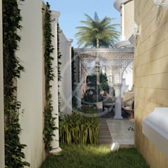 Classic Front Yard Landscape:  Garden by Comelite Architecture, Structure and Interior Design