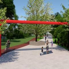 Parque Lineal, Colima: Espacios comerciales de estilo  por Green Gallery