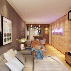 Living room by Gelker Ribeiro Arquitetura   Arquiteto Rio de Janeiro