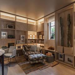 Casa FOA 2017 : Salas multimedia de estilo  por Estudio Viviana Melamed