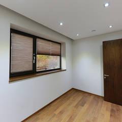 넓은 테라스가 있는 철근콘크리트 주택 (경기도 용인시): 더존하우징의  전자 제품,모던