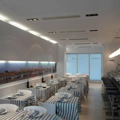 Sala de comensales de restaurante: Locales gastronómicos de estilo  de ZFA Arquitectura
