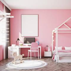 Decoración de dormitorio infantil: Habitaciones de niñas de estilo  de Klausroom