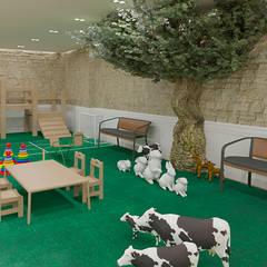 Zona de estar y de juegos para niños: Habitaciones juveniles de estilo  de NRN diseño de interiores