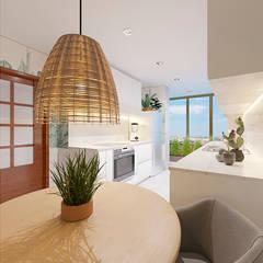 Petites cuisines de style  par NRN diseño de interiores