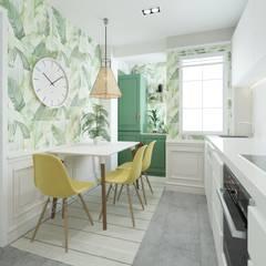 Small kitchens by NRN diseño de interiores,