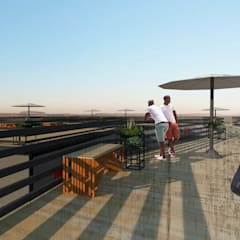 Roof deck:  Hotels by A4AC Architects
