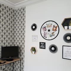 Salon colocation orléanaise: Salon de style  par Alex B décorons ensemble