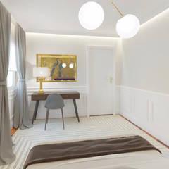 Projekty,  Małe sypialnie zaprojektowane przez NAROAN