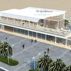"""Stabilimento balneare """"Il Gabbiano"""": Spazi commerciali in stile  di CDArchitetto"""
