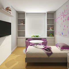Girls Bedroom by C2HA Arquitetos