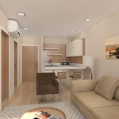 Asya Yapı İçmimarlık – Ak inşaat otel odası:  tarz Oteller