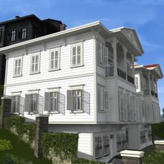 Asya Yapı İçmimarlık – Arif bey konut tasarımı:  tarz Ahşap ev