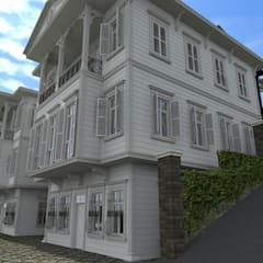 Casas de madera de estilo  por Asya Yapı İçmimarlık