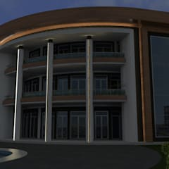 Asya Yapı İçmimarlık – AKS inşaat villa modelleme:  tarz Etkinlik merkezleri