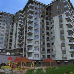 Asya Yapı İçmimarlık – Keleş inşaat bina modelleme:  tarz Sergi Alanları