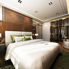 adt proje mimarlık dan. ltd. şti – beyzade konağı:  tarz Yatak Odası