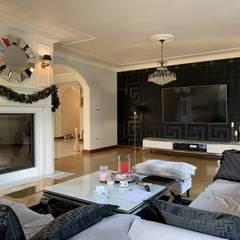 Salon: styl , w kategorii Salon zaprojektowany przez Fabryka Wnętrz