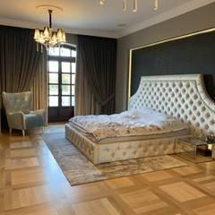 Sypialnia: styl , w kategorii Sypialnia zaprojektowany przez Fabryka Wnętrz