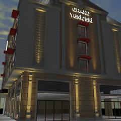 Asya Yapı İçmimarlık – Metin bey otel dış cephe:  tarz Oteller