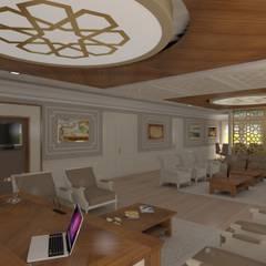 Asya Yapı İçmimarlık – Niğde Üniversitesi rektör makam odası:  tarz Ofis Alanları