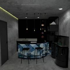 REFORMA - STUDIO TATTOO: Espaços comerciais  por Francielle Calado Arquitetura