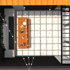 REFORMA - STUDIO TATTOO: Edifícios comerciais  por Francielle Calado Arquitetura