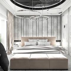 luksusowa aranżacja sypialni: styl , w kategorii Sypialnia zaprojektowany przez ARTDESIGN architektura wnętrz