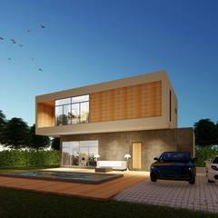 The OnGround บริษัทรับสร้างบ้านสไตล์ Modern Japaneseが手掛けた二世帯住宅
