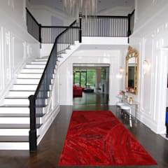 Custom Colonial, Greenwich, CT by DeMotte Architects:  Corridor & hallway by DeMotte Architects, P.C.