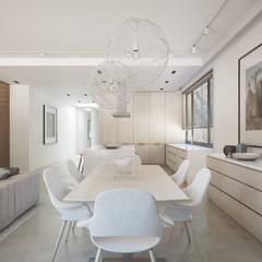 Apartament  w Warszawie : styl , w kategorii Jadalnia zaprojektowany przez Exit Pracownia Projektowa