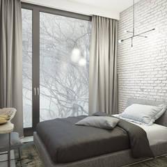 Apartament  w Warszawie : styl , w kategorii Sypialnia zaprojektowany przez Exit Pracownia Projektowa