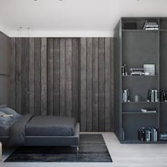 Apartament w Warszawie -CIEMNY : styl , w kategorii Sypialnia zaprojektowany przez Exit Pracownia Projektowa